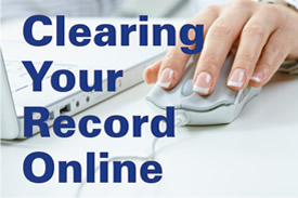 Clearing Your Record Online