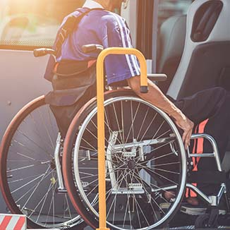 Disability (photo of person in wheelchair)