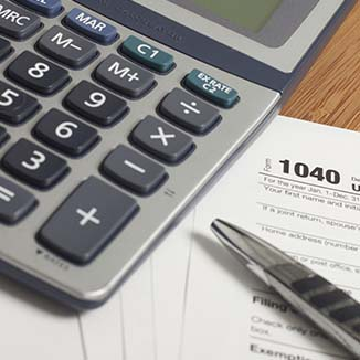 Taxes (photo of an IRS form)